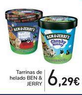 Oferta de Tarrinas de helado BEN & JERRY por 6,29€