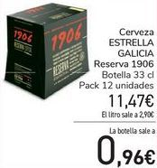Oferta de Cerveza ESTRELLA GALICIA Reserva 1906  por 11,47€