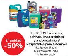 Oferta de En TODOS los aceites, aditivos, lavaparabrisas y anticongelantes/refrigerantes para automóvil por