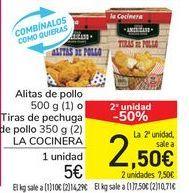 Oferta de Alitas de pollo o Tiras de pechuga de pollo LA COCINERA por 5€