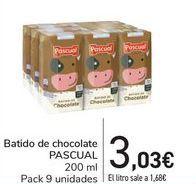 Oferta de Batido de chocolate PASCUAL por 3,03€