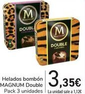 Oferta de Helados bombón MAGNUM Double por 3,35€