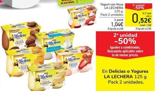 Oferta de Yogurt con fresa LA LECHERA por 1,04€