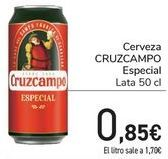 Oferta de Cerveza CRUZCAMPO Especial  por 0,85€