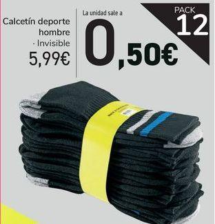 Oferta de Calcetín deporte hombre  por 5,99€