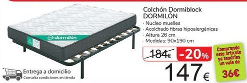 Oferta de Colchón Domiblock DORMILÓN  por 147€