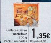 Oferta de Galletas safari Carrefour  por 1,35€