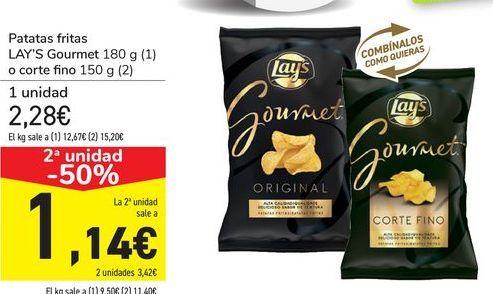 Oferta de Patatas fritas LAY'S Gourmet o corte fino por 2,28€