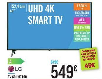 Oferta de TV 60UM7100 LG  por 549€