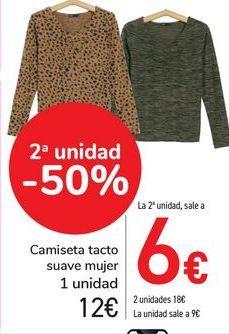 Oferta de Camiseta tacto suave mujer  por 12€