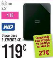 Oferta de Disco duro ELEMENTS SE por 119鈧�