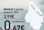 Oferta de PACK 6 Calcetín deporte TEX  por 3,99€