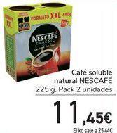 Oferta de Café soluble natural NESCAFÉ  por 11,45€