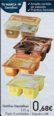 Oferta de Natillas Carrefour por 0,68€