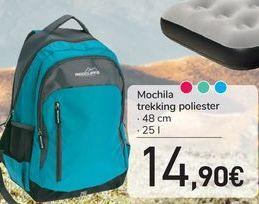 Oferta de Mochila trekking poliester  por 14,9€
