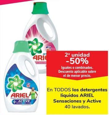 Oferta de En TODOS los detergentes liquidos ARIEL Sensaciones y Active por