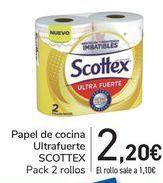 Oferta de Papel de cocina Ultrasuave SCOTTEX  por 2,2€