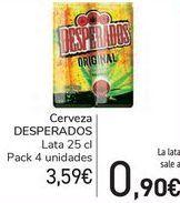 Oferta de Cerveza Desperados por 3,59€