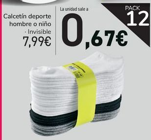 Oferta de Calcetín deporte hombre o niño  por 7,99€