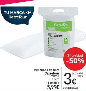 Oferta de Almohada de fibra Carrefour Home  por 5,99€