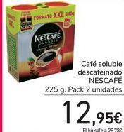 Oferta de Café soluble descafeinado NESCAFÉ  por 12,95€