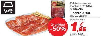Oferta de Paleta serrana en lonchas LEYENDA SERRANA por 3,9€