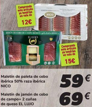 Oferta de Maletín de paleta de cebo ibérica 50% raza ibérica NICO por 59€