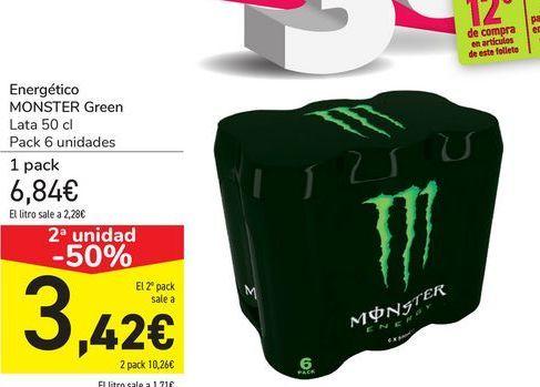 Oferta de Energético MONSTER Green  por 6,48€