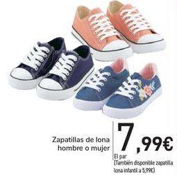 Oferta de Zapatillas de lona hombre o mujer  por 7,99€
