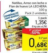 Oferta de Natillas, Arroz con leche o Flan de huevo LA LECHERA por 1,35€