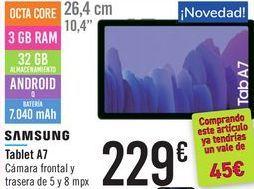 Oferta de Tablet A7 SAMSUNG  por 229€