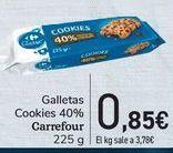 Oferta de Galletas cookies 40% Carrefour  por 0,85€