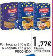 Oferta de Pan hogaza o Chapata RECONDO por 1,77€