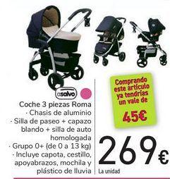 Oferta de Coche 3 piezas Roma Asalvo por 269€