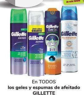 Oferta de En TODOS los geles y espumas de afeitado GILLETTE  por