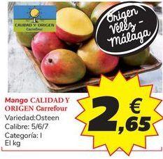 Oferta de Mango CALIDAD Y ORIGEN Carrefour por 2,65€