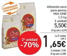 Oferta de Alimento seco para perros Mini One  por 5,5€