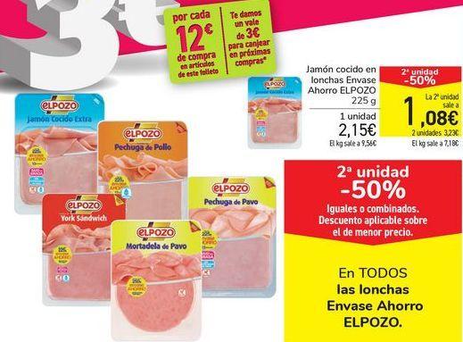 Oferta de En TODAS las lonchas Envase Ahorro ELPOZO por