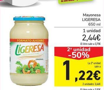 Oferta de Mayonesa LIGERESA por 2,44€