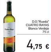 Oferta de D.O. Rueda CUATRO RAYAS Blanco Verdejo  por 4,75€