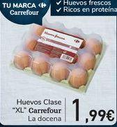 Oferta de Huevos Clase XL Carrefour  por 1,99€