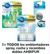Oferta de En TODOS los ambientadores spray, coche y recambios dobles AMBIPUR  por