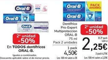 Oferta de En TODOS los dentífricos ORAL-B por