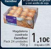 Oferta de Magdalena cuadrada Carrefour  por 1,1€