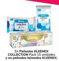 Oferta de En pañuelos KLEENEX COLLECTION y en pañuelos húmedo KLEENEX por
