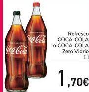 Oferta de Refresco COCA-COLA o COCA-COLA Zero Vidrio  por 1,7€