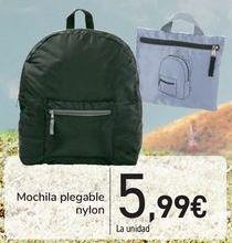 Oferta de Mochila plegable nylon  por 5,99€
