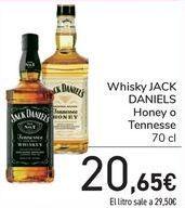 Oferta de Whisky JACK DANIEL Tennesse por 20,65€