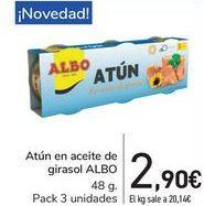 Oferta de Atún en aceite de girasol ALBO por 2,9€
