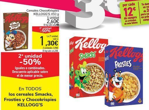 Oferta de En TODOS los cereales Smacks, Froesties y Chocokrispies KELLOGG'S por